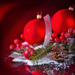 Foto Stock: Art Christmas greeting card