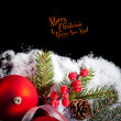 Art Christmas greeting card — Foto de stock #36394931