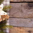 Christmas Decoration Over Wooden Background. — Foto Stock