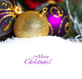 Christmas Decoration Over Wooden Background. — Stock Photo