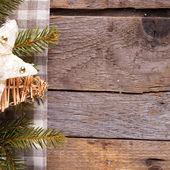Décoration de noël sur fond en bois. — Photo