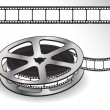 A reel of 35mm motion picture film — Stock Vector