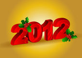 Vector Happy New Year 2012 — Stockvektor