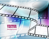 Curved photographic film — Stock Vector