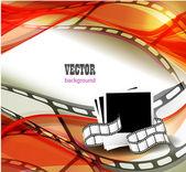 Película fotográfica curvada — Vector de stock
