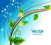 Fondo de naturaleza abstracta. — Vector de stock