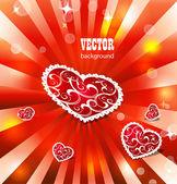 Heart valentines background — Stock Vector
