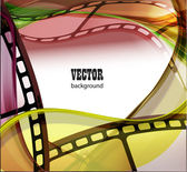 Curved photographic film. — Stock Vector