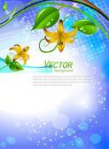 Vektorové ilustrace kvetoucí lilie — Stock vektor