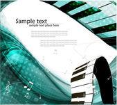 Abstract piano keyboard — Stock Vector