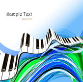 Abstract piano keyboard — Stock Vector