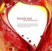 背景与情人节的心 — 图库矢量图片