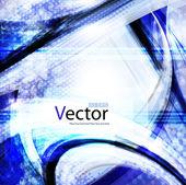 абстрактный волнистые векторный дизайн — Cтоковый вектор