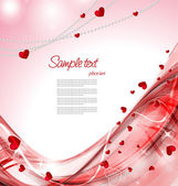 Red heart background — Wektor stockowy