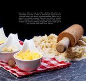 Dough ingredients — Stock Photo