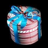 Round gift box — Stock Photo