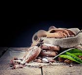 Chocolate cookies and coffee — Stock Photo