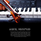 Violin and piano keys — Stok fotoğraf