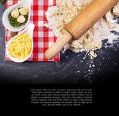Dough on a table — Stock Photo