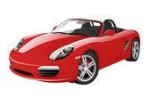 Kırmızı spor araba — Stok Vektör