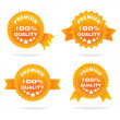 Guarantee orange label — Stock Vector