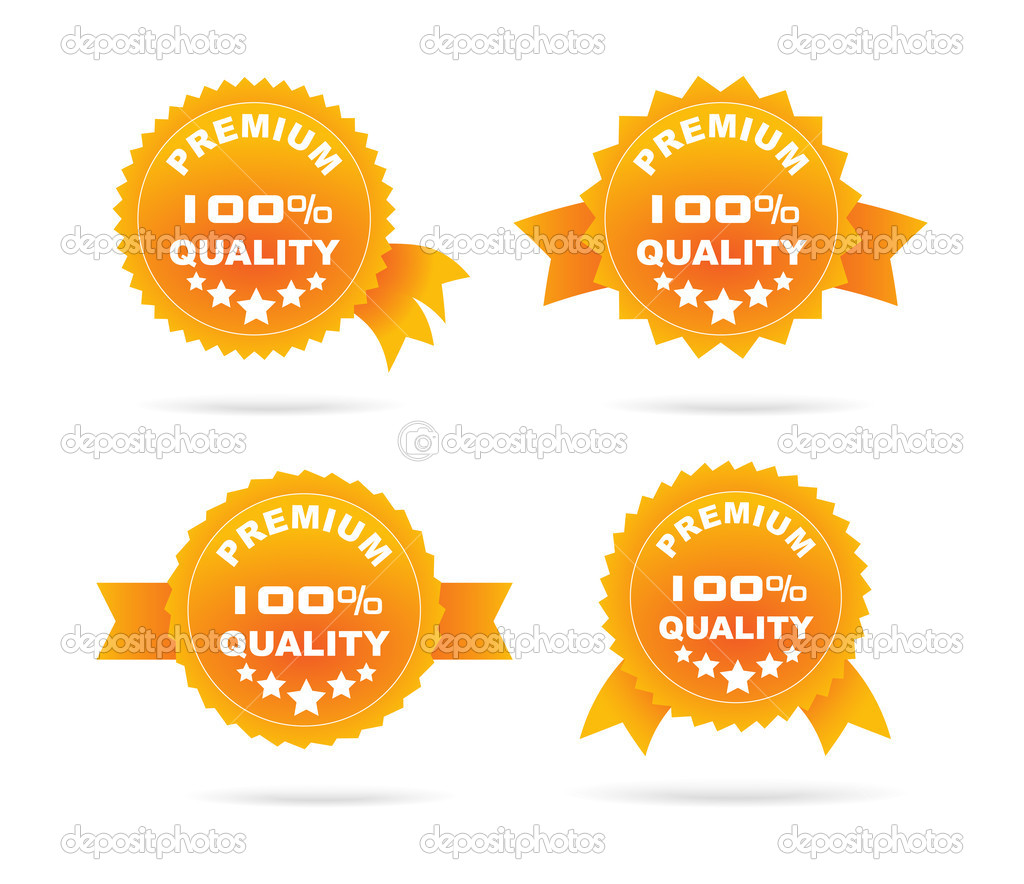 Guarantee orange label.Vector illustration. — Stock Vector #14803905