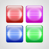 Vector buttons set. — Stock Vector
