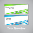 Stock Vector: Business card set.