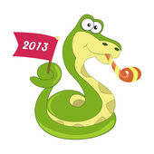 Snake symbol of 2013 year — Stock Vector