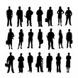 Stock vektor: Set of icons with people profession. Vector.