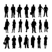 Set of icons with people profession. Vector. — Stock Vector