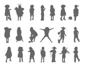 Silhouettes of the children. — Stock Photo