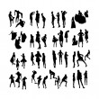 Vector Fashion Model Silhouettes. Part 6. — Stock Vector