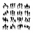 Vector Fashion Model Silhouettes. Part 7. — Stock Vector