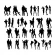 Vector Fashion Model Silhouettes. Part 9. — Stock Vector