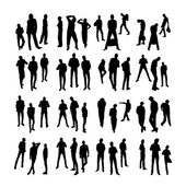 Vector Model Silhouettes of men. Part 5. — Stock Vector