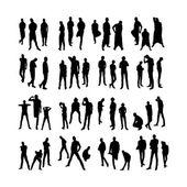 Vector Model Silhouettes of men. Part 2. — Stock Vector
