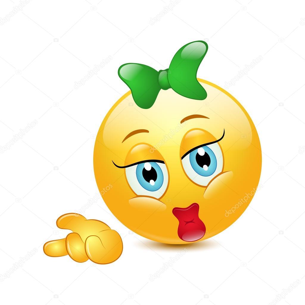 Faccina emoticon con fiocco — vettoriali stock jonatan