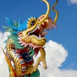 Chinese dragon statue on the sky — Stock Photo #35990113