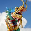Chinese dragon statue with the sky — Stock Photo #35997319