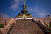 Big Buddha image named Phra Buddha Maha Thammaracha in Traiphum — Stock Photo