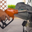 Fill up fuel at gas station — Stock Photo