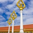 Golden lamp in Thai temple — Stock Photo
