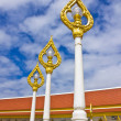 Stock Photo: Golden lamp in Thai temple