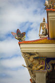 New style of Thai temple's roof — Stock Photo