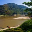 Stock Photo: Coastline of Thailand and Mae Khong river.