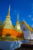 Golden stupa with blue sky at Pra Tad Doi Tung temple, Northern — Stock Photo
