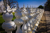Fence of beautiful white temple, Rong Khun Temple, Chiangrai Tha — Stock Photo