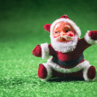 Santa Claus green background. — Stock Photo