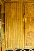 The door of cottage bamboo weave. — Stock Photo